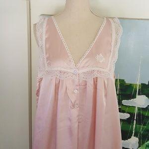 Dior Intimates & Sleepwear - DIOR PINK VINTAGE NIGHTGOWN SILK & LACE